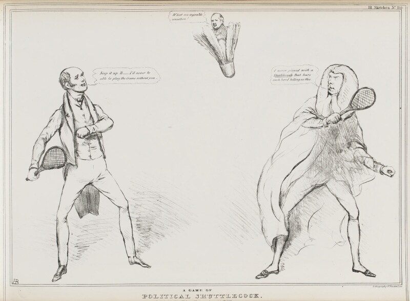 A Game of Political Shuttlecock, by John ('HB') Doyle, published by  Thomas McLean, published 20 September 1831 - NPG D41090 - © National Portrait Gallery, London