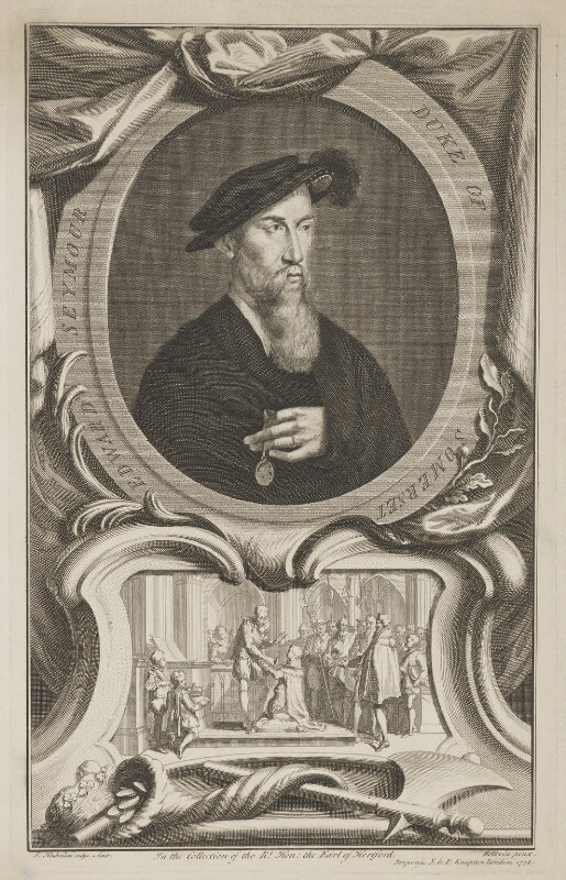 Edward Seymour, 1st Duke of Somerset, by Jacobus Houbraken, published by  John & Paul Knapton, after  Hans Holbein the Younger, published 1738 - NPG D41816 - © National Portrait Gallery, London