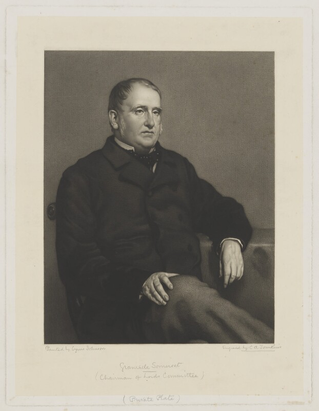 Lord Granville Somerset, by Charles Algernon Tomkins, after  Cyrus Johnson, mid 19th century - NPG D41823 - © National Portrait Gallery, London