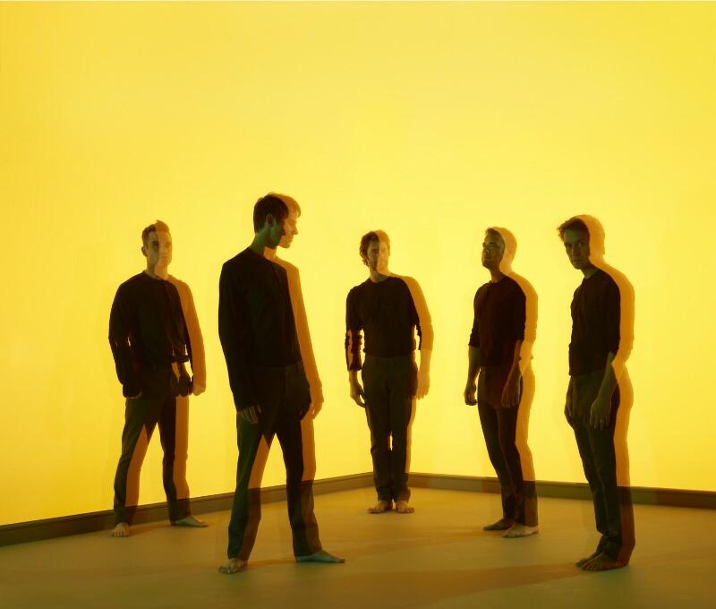 'Take That' (Gary Barlow; Howard Donald; Jason Orange; Mark Owen; Robbie Williams), by Nadav Kander, 2010 - NPG x134921 - © Nadav Kander; courtesy Flowers Galleries