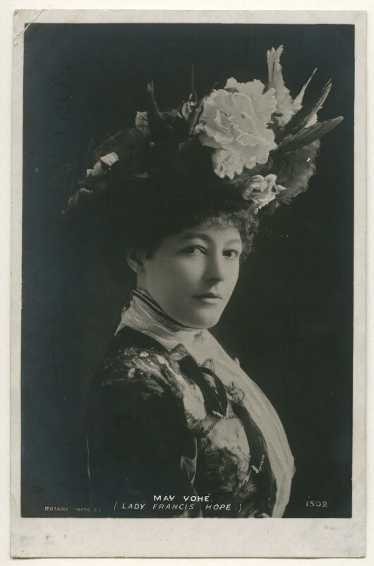 May Yohé, published by Rotary Photographic Co Ltd, 1890s - NPG Ax160350 - © National Portrait Gallery, London