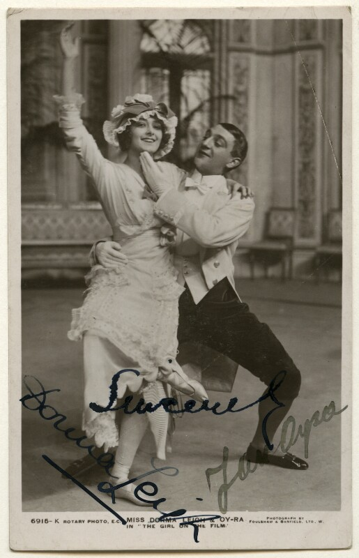 Dorma Leigh (née Dorothy Mabel Woodley) and Jan Oyra in 'The Girl on the Film', by Foulsham & Banfield, published by  Rotary Photographic Co Ltd, 1913 - NPG Ax160365 - © National Portrait Gallery, London