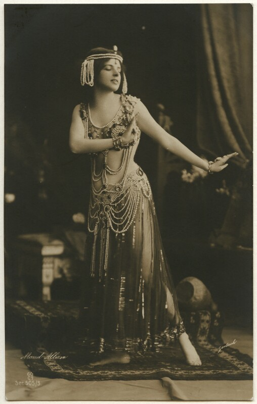 Maud Allan as Salome in 'The Vision of Salome', by Gerlach, published by  G.G. & Co, circa 1908 - NPG Ax160370 - © National Portrait Gallery, London