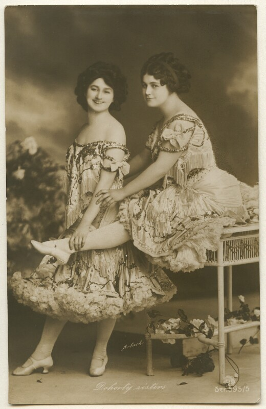 'Doherty sisters' (Miss Doherty; Miss Doherty), by Gerlach, published by  G.G. & Co, 1900s - NPG Ax160372 - © National Portrait Gallery, London