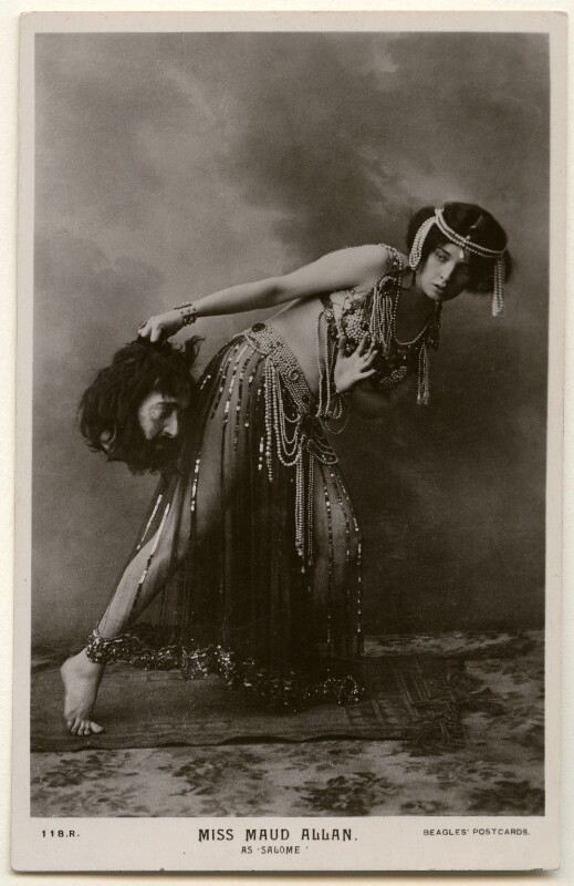 Maud Allan as Salome in 'The Vision of Salome', published by J. Beagles & Co, 1908 - NPG Ax160375 - © National Portrait Gallery, London