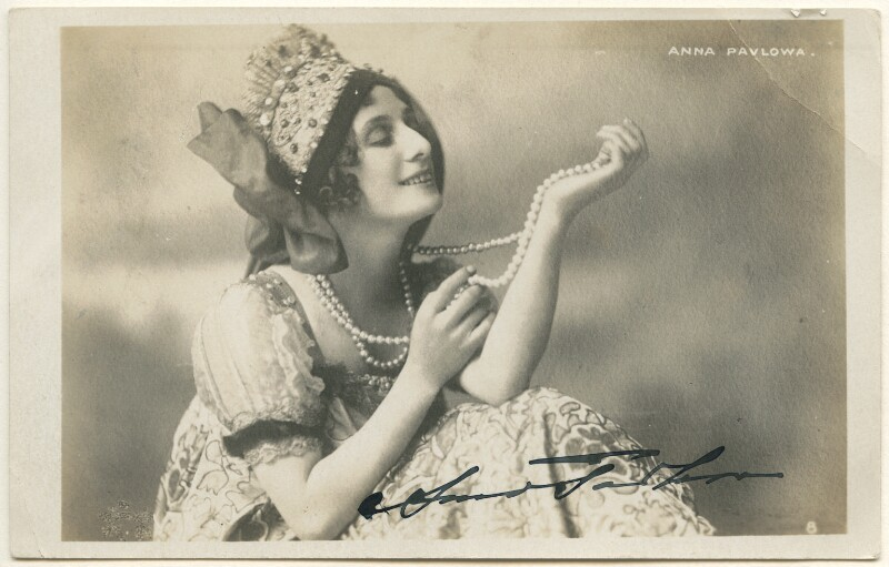 Anna Pavlova, by Unknown photographer, 1910s - NPG Ax160382 - © National Portrait Gallery, London