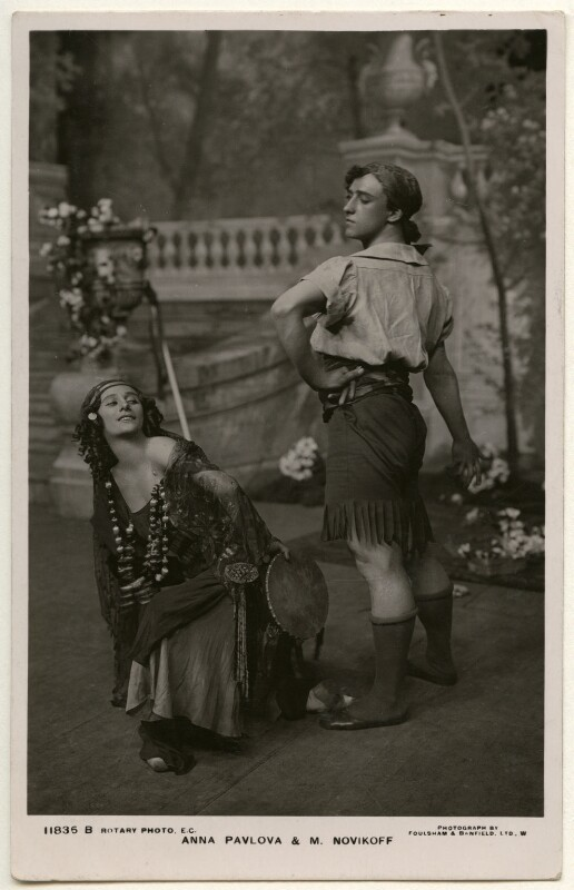 Anna Pavlova; Laurent Novikoff, by Foulsham & Banfield, and  Rotary Photographic Co Ltd, 1913 - NPG Ax160386 - © National Portrait Gallery, London
