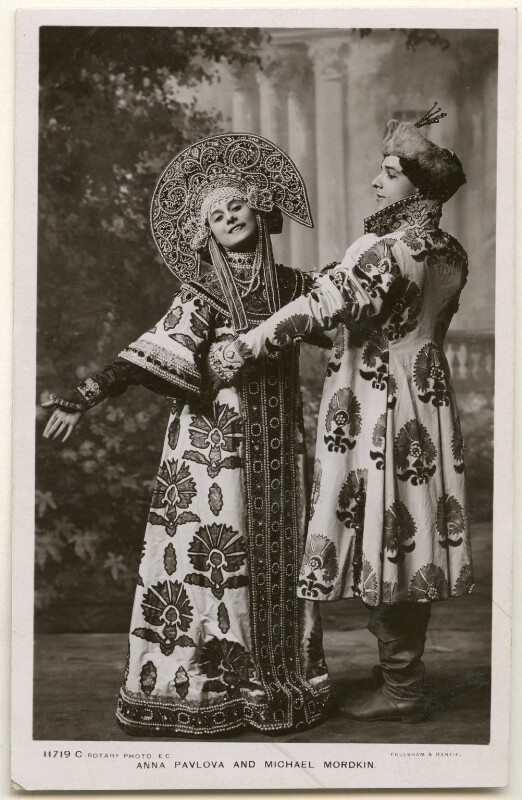 Anna Pavlova and Michael Mordkin performing the Russian Dance, by Foulsham & Banfield, published by  Rotary Photographic Co Ltd, 1909 - NPG Ax160387 - © National Portrait Gallery, London