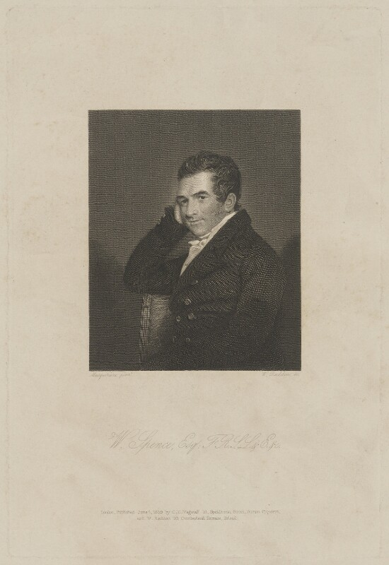 William Spence, by and published by William Raddon, published by  Charles Edward Wagstaff, after  John James Masquerier, published 1 June 1839 - NPG D41996 - © National Portrait Gallery, London