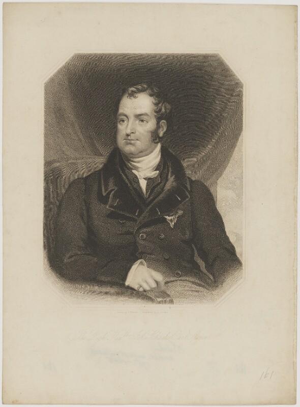 John Charles Spencer, 3rd Earl Spencer, by Joseph Brown, after  J. Stewart, mid 19th century - NPG D42004 - © National Portrait Gallery, London