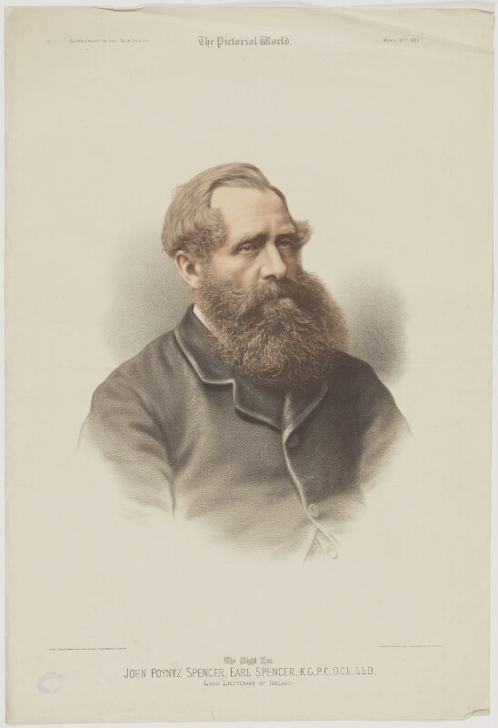 John Poyntz Spencer, 5th Earl Spencer, by Riddle & Couchman, published by  The Pictorial World, after  London Stereoscopic & Photographic Company, published 31 March 1883 - NPG D42011 - © National Portrait Gallery, London