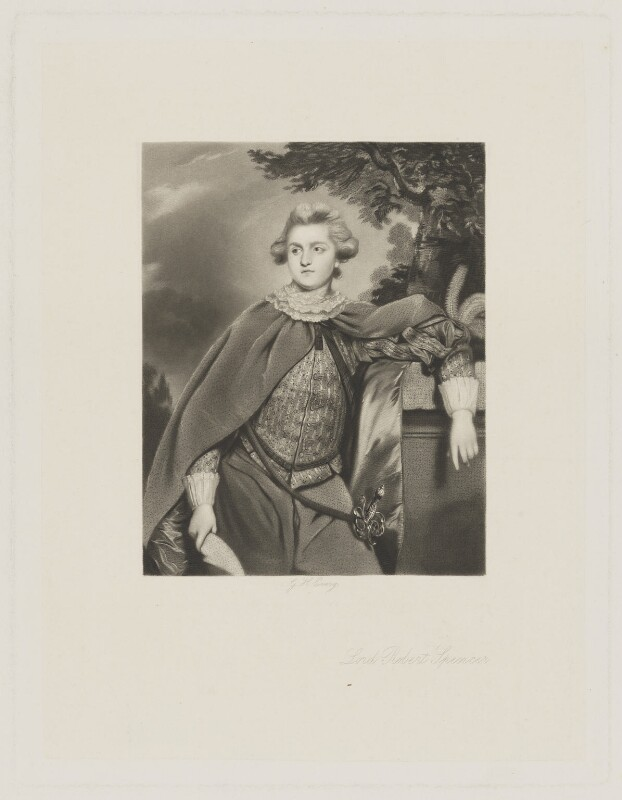 Lord Robert Spencer, by George H. Every, after  Sir Joshua Reynolds, (1769) - NPG D42020 - © National Portrait Gallery, London