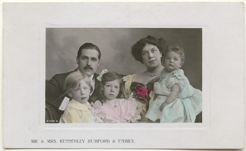 Mr & Mrs Kennerley-Rumford & Family, published by Rotary Photographic Co Ltd, 1907 - NPG Ax160419 - © National Portrait Gallery, London