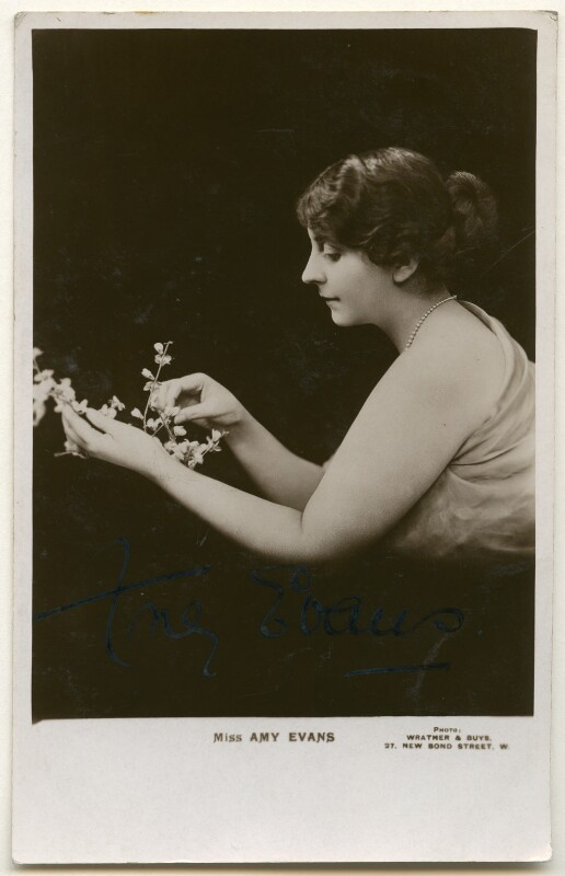 Amy Evans, by Wrather & Buys, 1900s - NPG Ax160442 - © National Portrait Gallery, London