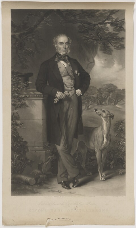 John Edward Cornwallis Rous, 2nd Earl of Stradbroke, by James John Chant, published by  Henry Graves & Co, published by  William Hunt, after  Sir Francis Grant, published 1 September 1863 - NPG D42067 - © National Portrait Gallery, London