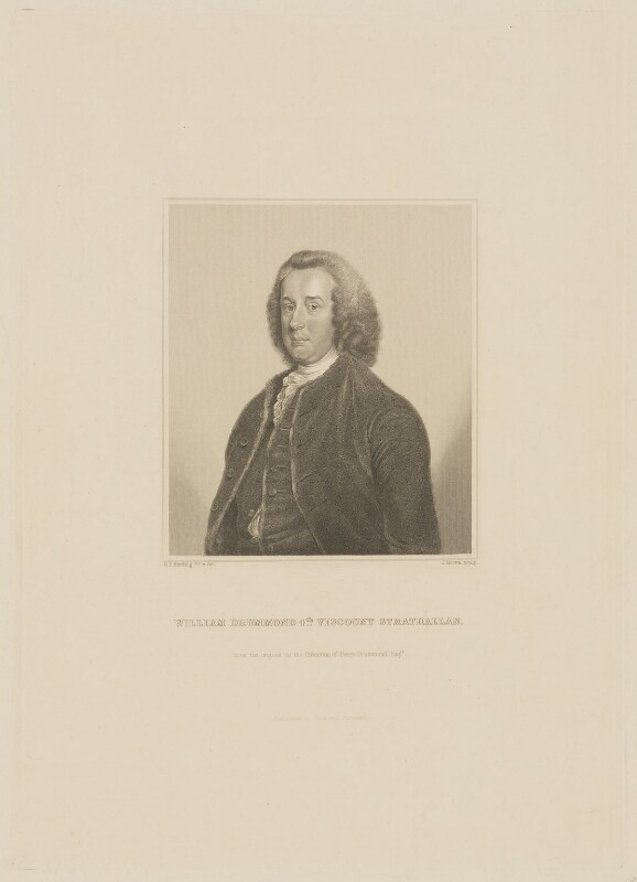 William Drummond, 4th Viscount Strathallan, by Joseph Brown, published by  William Pickering, after  George Perfect Harding, mid 19th century - NPG D42085 - © National Portrait Gallery, London