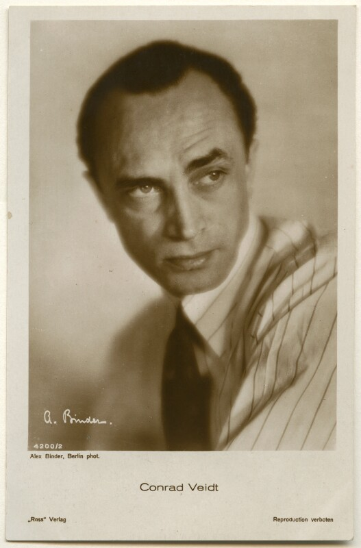 Conrad Veidt, by Binder (Alexander Binder), published by  Ross-Verlag, 1920s - NPG Ax160464 - © National Portrait Gallery, London
