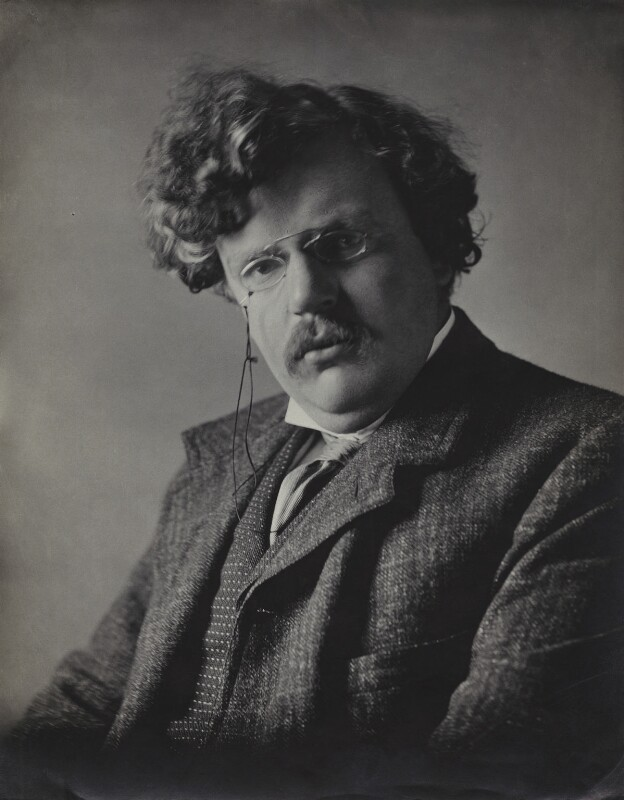 G.K. Chesterton, by Ernest Herbert ('E.H.') Mills, published 1909 - NPG x134952 - © National Portrait Gallery, London
