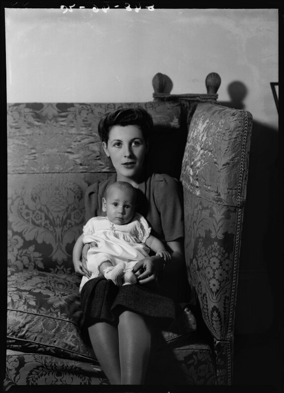 Anthony Ashley-Cooper, 10th Earl of Shaftesbury; Françoise (née Soulier), Lady Ashley, by Bassano Ltd, 28 September 1938 - NPG x155772 - © National Portrait Gallery, London
