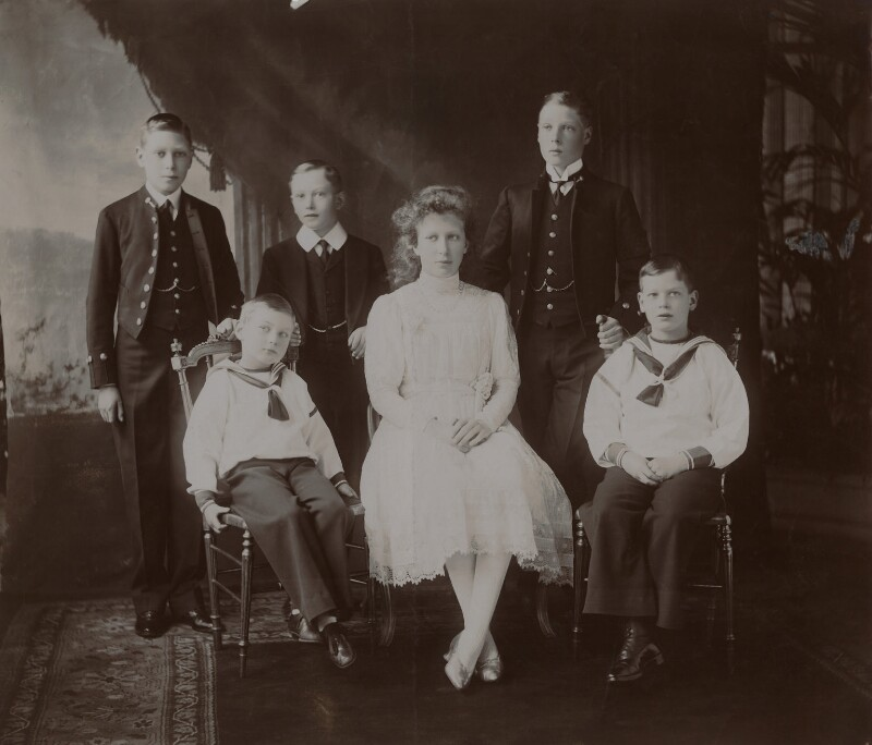 The children of King George V, by W. & D. Downey, published 1910 - NPG x134956 - © National Portrait Gallery, London