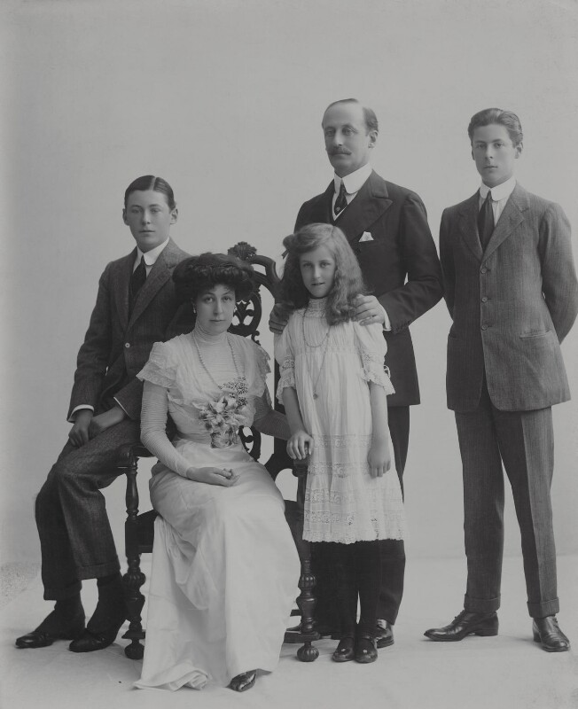 Baron Hardinge of Penshurst and family, possibly by Rita Martin, published 1910 - NPG x134957 - © National Portrait Gallery, London