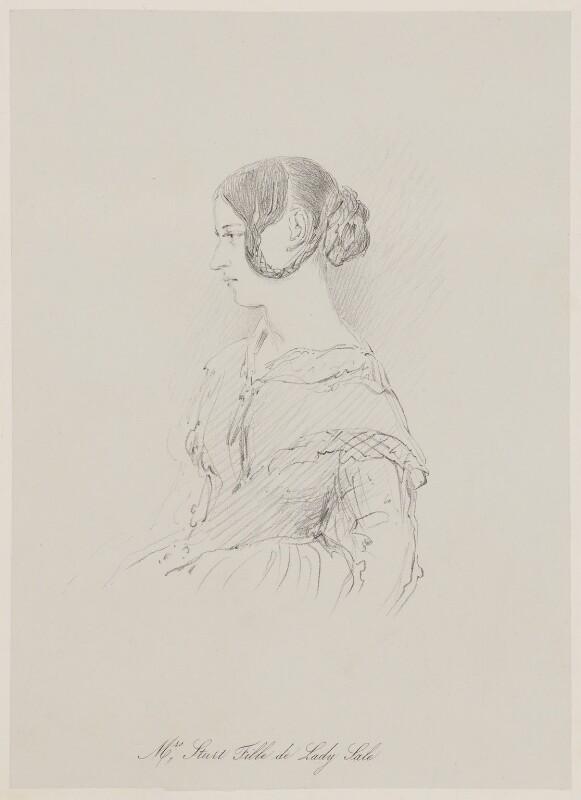 Alexandrina Sturt (née Sale) ('Mrs Sturt Fille de Lady Sale'), after Unknown artist, mid 19th century - NPG D42115 - © National Portrait Gallery, London