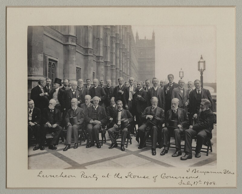 'Luncheon Party at the House of Commons', by Benjamin Stone, 17 July 1908 - NPG x135013 - © National Portrait Gallery, London