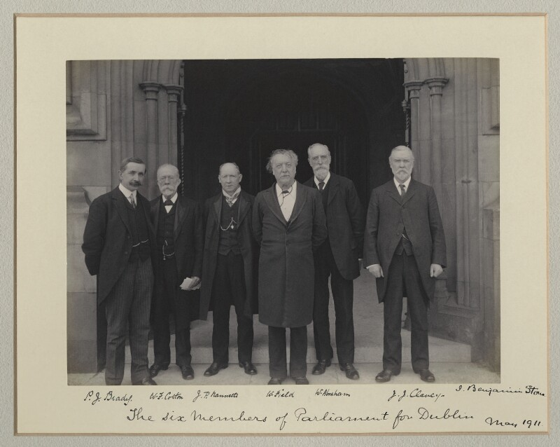 'The Six Members of Parliament for Dublin', by Benjamin Stone, May 1911 - NPG x135019 - © National Portrait Gallery, London