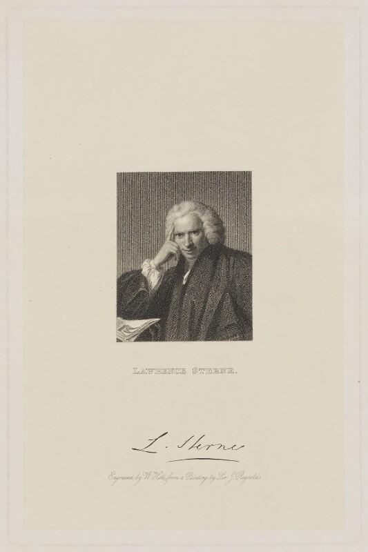 Laurence Sterne, by William Holl Sr, after  Sir Joshua Reynolds, (1760) - NPG D42129 - © National Portrait Gallery, London