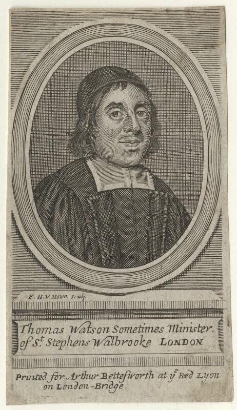 Thomas Watson, by Frederick Hendrik van Hove, published by  Arthur Bettesworth, circa 1662 - NPG D42199 - © National Portrait Gallery, London
