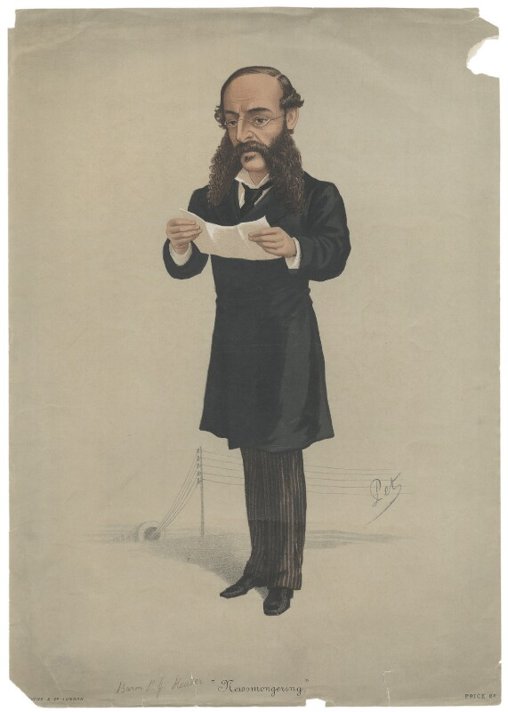 (Paul) Julius de Reuter, Baron de Reuter (né Israel Beer Josaphat), by 'Pet', printed by  Stevens & Co, published 7 March 1877 - NPG D42201 - © National Portrait Gallery, London