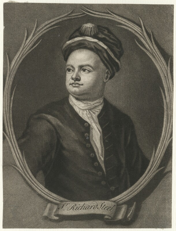 Sir Richard Steele, after Sir James Thornhill, 18th century - NPG D42156 - © National Portrait Gallery, London