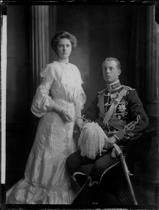 Princess Alice of Greece and Denmark; Prince Andrew of Greece, by H. Walter Barnett, 1903 - NPG x81592 - © National Portrait Gallery, London