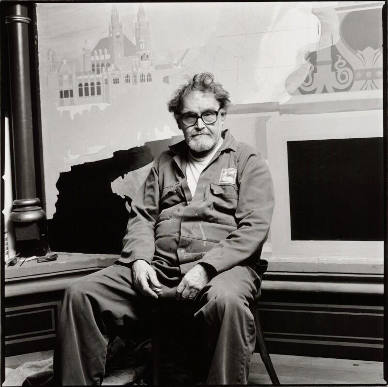 Alasdair James Gray, by Norman McBeath, 24 October 2004 - NPG x135077 - © Norman McBeath / National Portrait Gallery, London