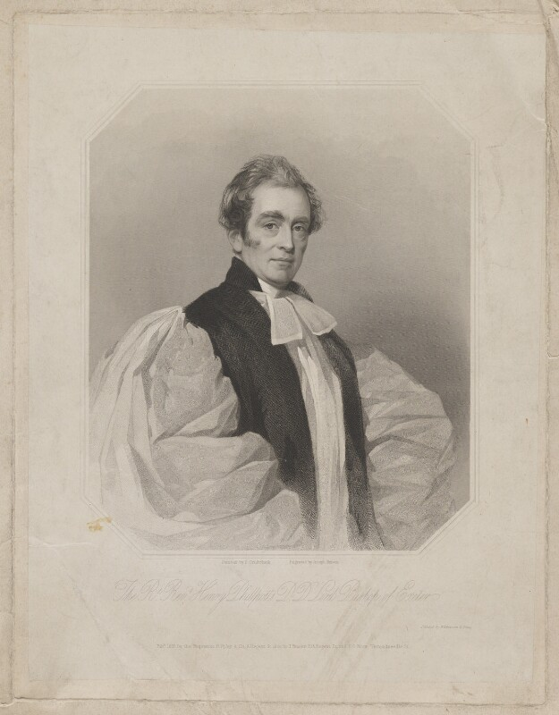 Henry Phillpotts, by Joseph Brown, printed by  Wilkinson & Dawe, published by  R. Ryley, published by  James Fraser, published by  Sir Francis Graham Moon, 1st Bt, after  Frederick Cruickshank, published 1837 - NPG D41895 - © National Portrait Gallery, London
