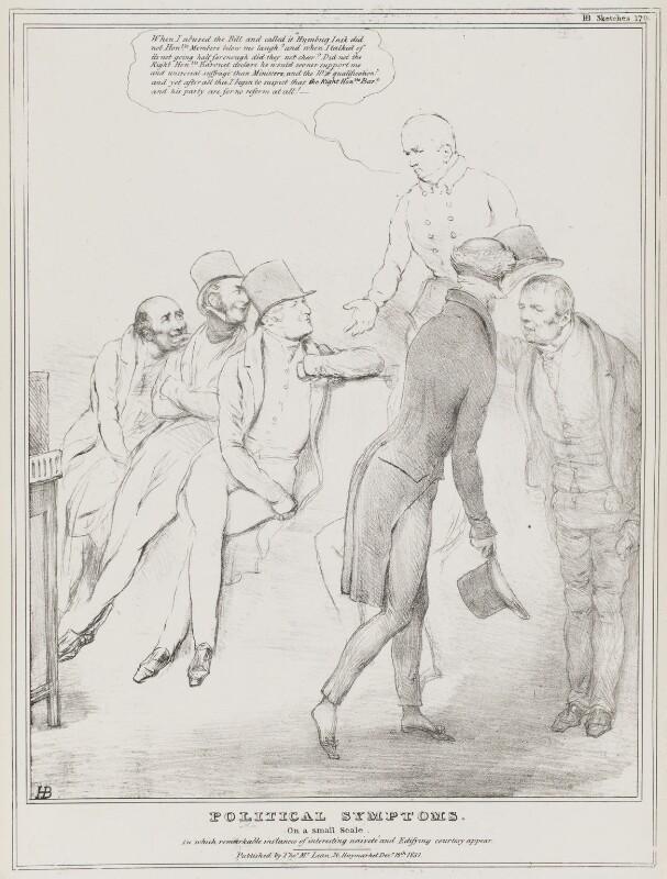 Political Symptoms, by John ('HB') Doyle, published by  Thomas McLean, published 12 December 1831 - NPG D41105 - © National Portrait Gallery, London