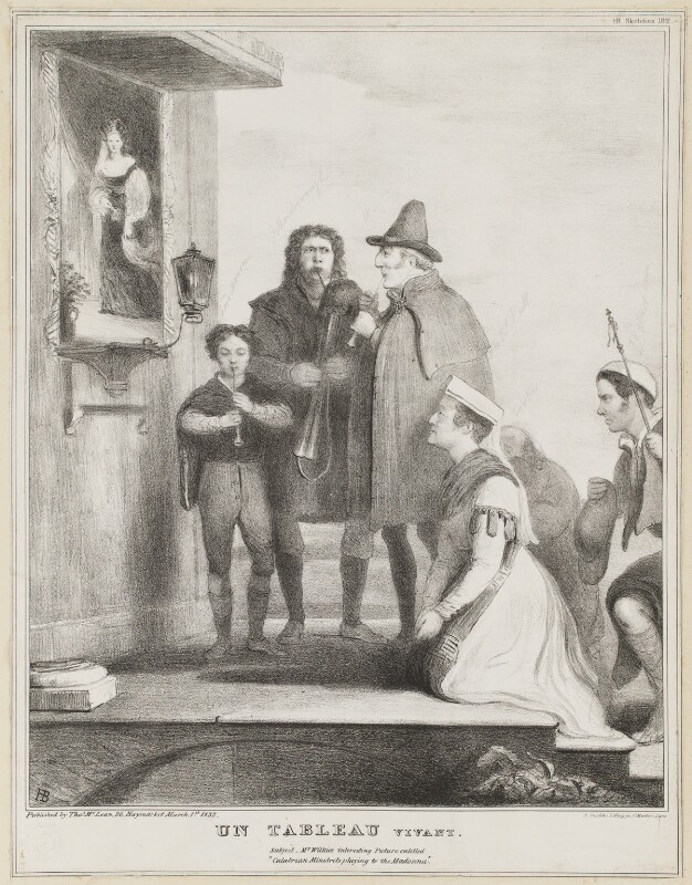 Un Tableau Vivant, by John ('HB') Doyle, printed by  Alfred Ducôte, published by  Thomas McLean, published 1 March 1832 - NPG D41117 - © National Portrait Gallery, London