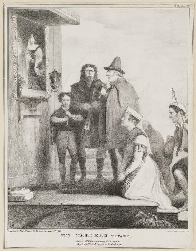 Un Tableau Vivant, by John ('HB') Doyle, printed by  Alfred Ducôte, published by  Thomas McLean, published 1 March 1832 - NPG D41117 - © National Portrait Gallery, London