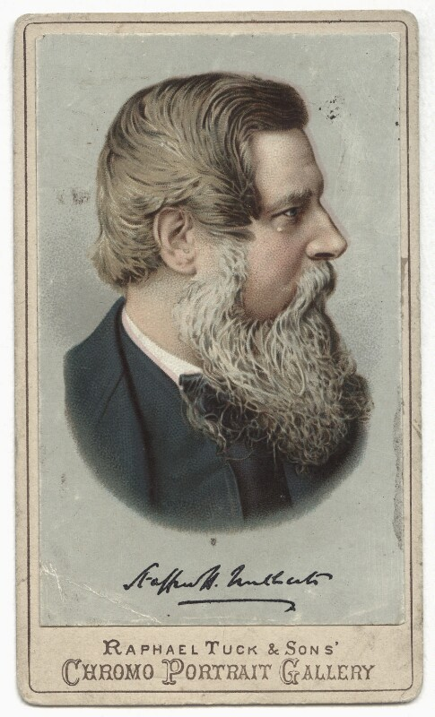 Sir Stafford Henry Northcote, 1st Earl of Iddesleigh, by Raphael Tuck & Sons, after  London Stereoscopic & Photographic Company, mid-late 1880s (circa 1873) - NPG x135101 - © National Portrait Gallery, London
