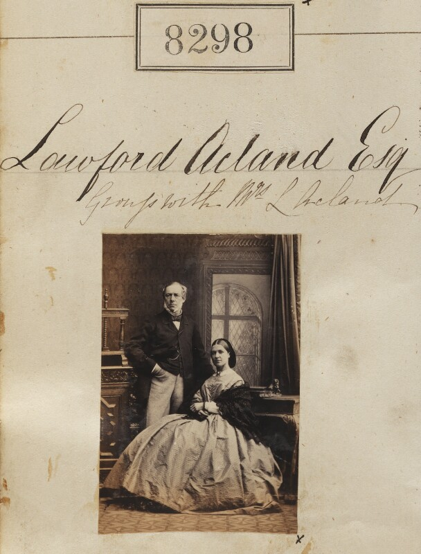 Lawford Acland; Robina Jemima Acland, by Camille Silvy, 24 May 1862 - NPG Ax58117 - © National Portrait Gallery, London