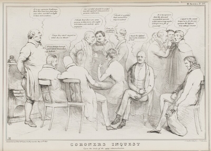 Coroners Inquest Upon the Body of the Late Administration, by John ('HB') Doyle, printed by  Alfred Ducôte, published by  Thomas McLean, published 15 May 1832 - NPG D41132 - © National Portrait Gallery, London