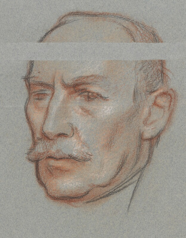Unknown man, by Sir William Rothenstein,  - NPG 4785a - © National Portrait Gallery, London