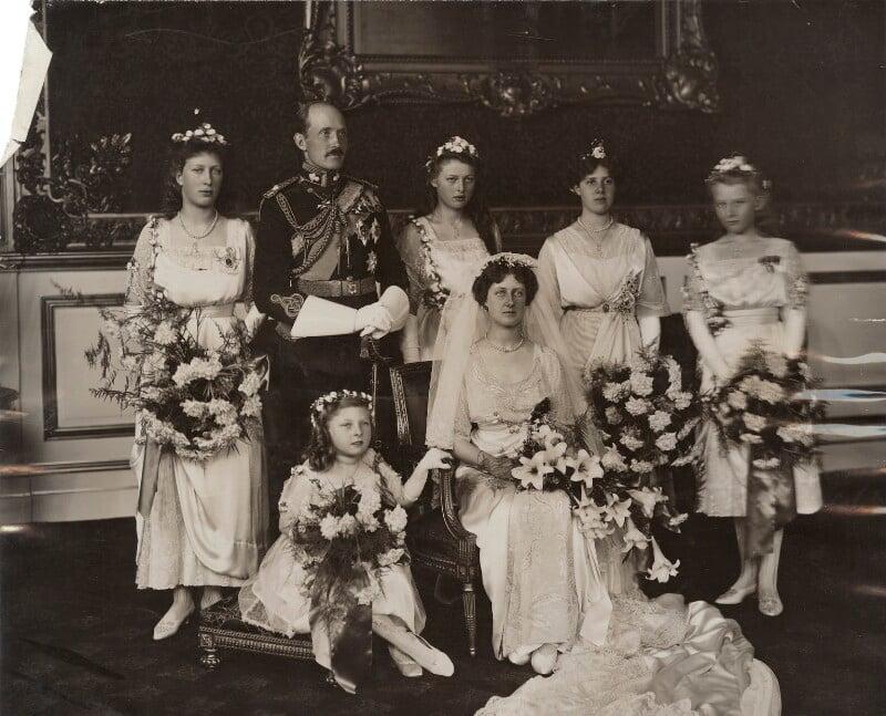 Royal Wedding Group, by Ernest Brooks, 15 October 1913 - NPG x134979 - © National Portrait Gallery, London