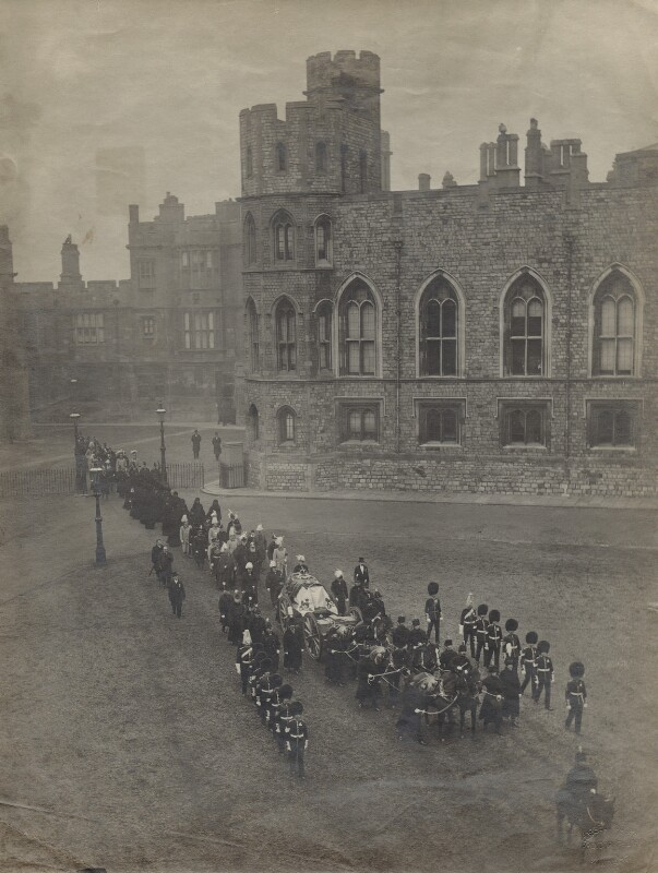 Queen Victoria's Funeral Cortège, by James Russell & Sons, 4 February 1901 - NPG x135124 - © National Portrait Gallery, London
