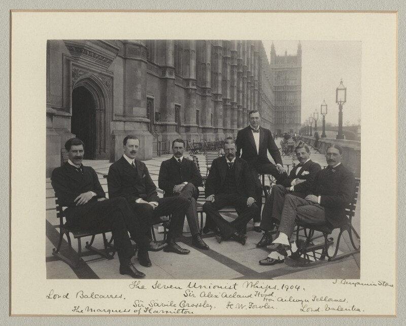 'The Seven Unionist Whips 1904', by Sir (John) Benjamin Stone, 1904 - NPG x135130 - © National Portrait Gallery, London