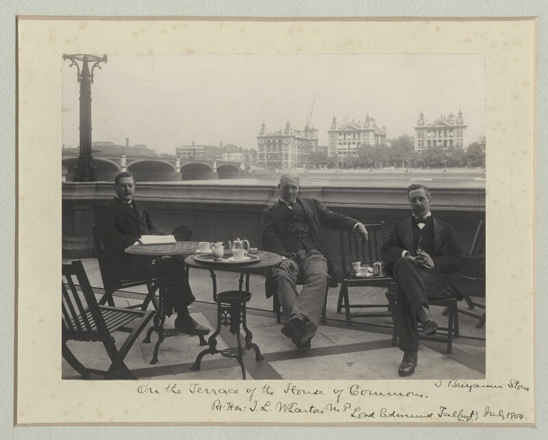 'On the Terrace of the House of Commons', by Benjamin Stone, July 1904 - NPG x135137 - © National Portrait Gallery, London