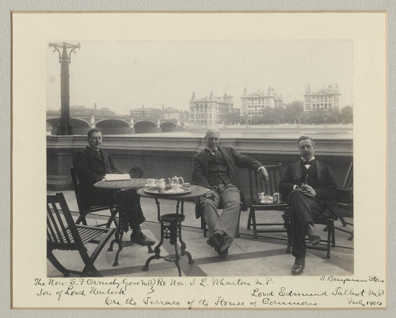 'On the Terrace of the House of Commons', by Benjamin Stone, July 1904 - NPG x135138 - © National Portrait Gallery, London