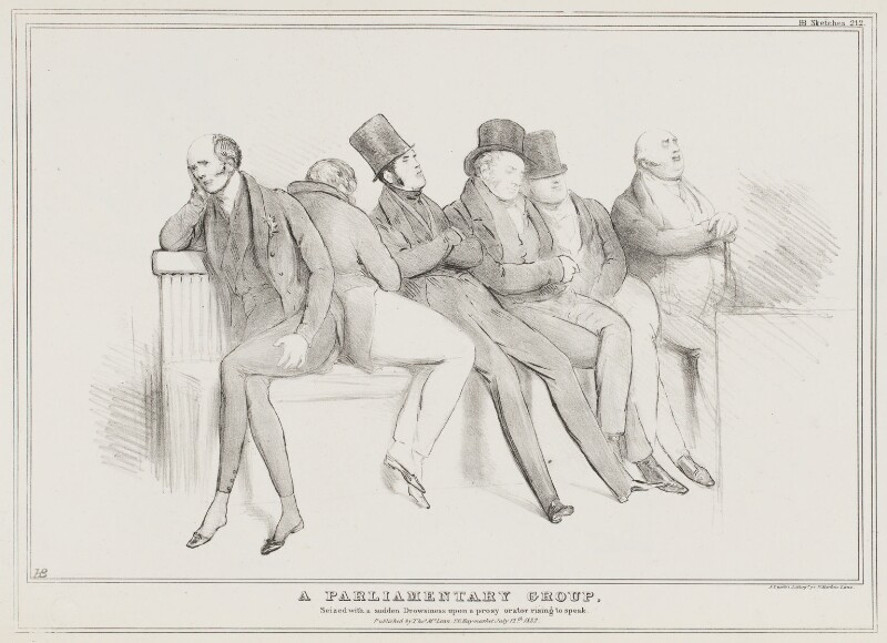 A Parliamentary Group, by John ('HB') Doyle, printed by  Alfred Ducôte, published by  Thomas McLean, published 12 July 1832 - NPG D41147 - © National Portrait Gallery, London