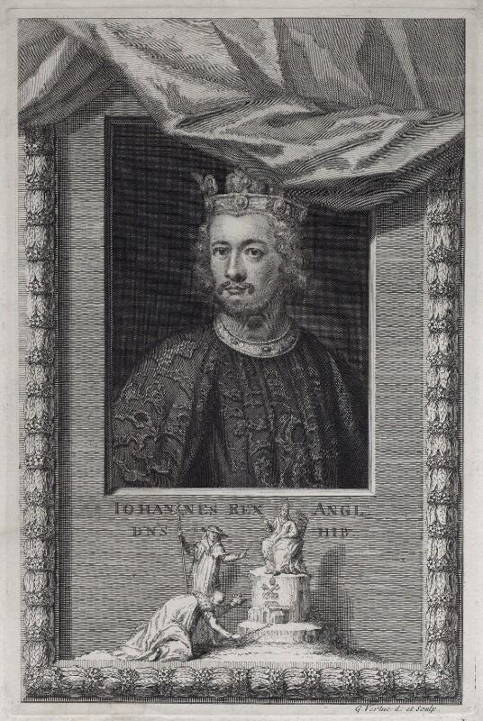 King John, by George Vertue, 1733 - NPG D42230 - © National Portrait Gallery, London