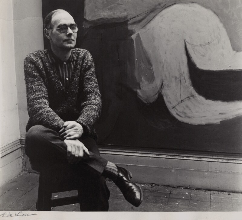 Roger Hilton, by Ida Kar, 1960 - NPG x135199 - © National Portrait Gallery, London